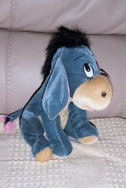 Very Soft Cuddly Eeyore / Donkey Toy, 8 inches high, Histon