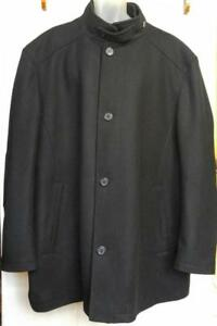 3XT MENS BIG N TALL BRAND NEW WOOL BLEND COAT WINTER BLACK GEORGE RICHARDS NWOT