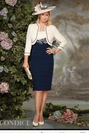 Condici Mother of the Bride Dress. Navy and Cream. Only worn once, immaculate condition RRP £700