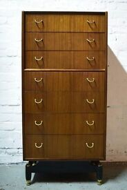 G-plan E Gomme Tallboy Chest Of Drawers (DELIVERY AVAILABLE)