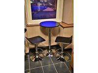 Tall table & chairs for sale