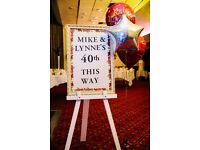 Large White Wooden Easel / Party Event Sign Holder - Ideal For Weddings & Seating Charts