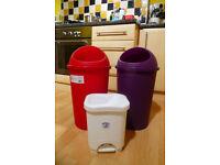 Colorful rubbish/recycling bins