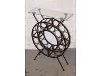 wrought iron wine rack (DELIVERY AVAILABLE)