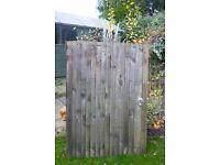 Solid wood garden gate
