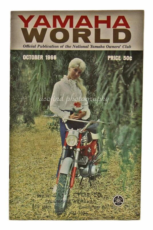 October 1966 Yamaha World Motorcycle Magazine Brochure Booklet