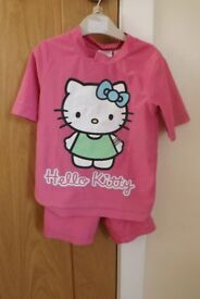 Girls H & M Hello Kitty Swim Top and Shorts Age 2-4