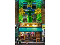 Experienced waiter/waitress wanted for a busy Brazilian Restaurant & Cocktail Bar in Camden Town