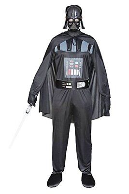 CARNEVALE HALLOWEEN STAR WARS DARTH VADER DARK COSTUME COMPLETO ADULTO TG. 52
