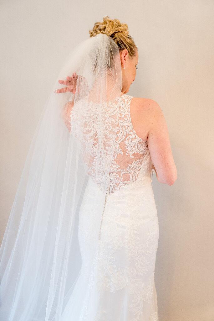 cc9496387bb Essence of Australia lace wedding dress with halter neckline. Style D2174