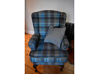 Vintage 'parker knoll style' wingback fireside armchair - Abraham Moon wool - £250 or nearest offer!