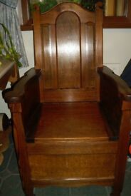 Beautiful Old Pitch Pine Commode.