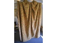 Professionally made long length curtains - patio doors - harlequin design - fully lined