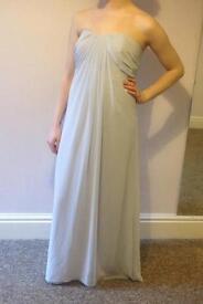 Beautiful flowing grey Prom / Bridesmaids dress