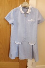 Girls School Gingham Dress Age 5-6
