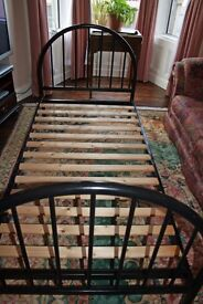 Black single bed frame, in good condition. Collection only