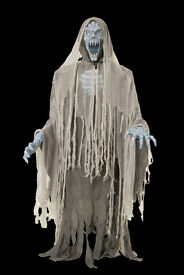 """EVIL ENTITY LIFE SIZE ANIMATED HALLOWEEN PROP 5' 10"""" TALL light-up head & chest NEW IN BOX"""