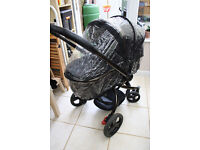 Mothercare Orb Pram And Pushchair - Liquorice / Black Canvas