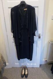 Gina Smart Cabotine Dress & Jacket With Matching Van Dal Shoes