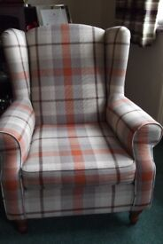 Wing backed four arm chairs £800 - will sell separately