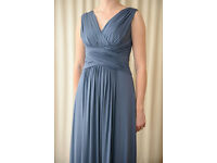 Beautiful evening/prom/ball dress, dusky blue, 12