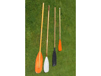 4 Various Dinghy Oars / Paddles