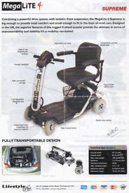 MegaLite 4 Supreme Mobility Scooter from Lifestyle Plus. 2008 Model. In excellent condition.