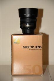 Nikon AF-S 50mm f/1.8G Lens for sale