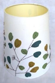Ikea Lampshade Green Leaves Embroidery