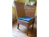 Rattan Dining Chairs, 4 pieces
