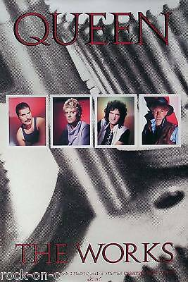 QUEEN 1984 THE WORKS PROMO POSTER ORIGINAL