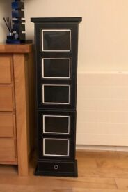 Black Leather Photo Storage Tower - Includes 12 Photo Albums