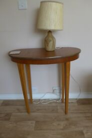 Small teak effect occasional/lamp table