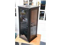 Display black cabinet. Small angled shape. Really nice