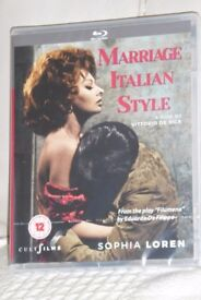 BRAND NEW Cult Films BLU - RAY DISC Sophia Loren - Marriage Italian Style Film,Unwanted Gift, Histon