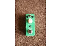 Mooer green mile overdrive guitar effects pedal.