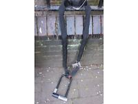 Bike chain, cable and lock set
