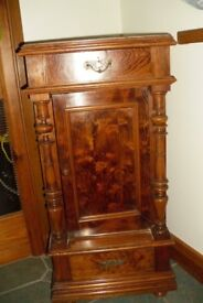 Lovely Antique Pitch Pine Marble Topped Stand.