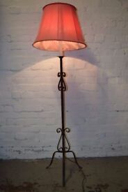 Wrought Iron Standard Lamp (DELIVERY AVAILABLE)
