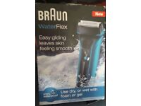 braun waterflex 2s wet&dry shaver new boxed £25.00