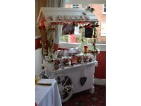 Selling a Wedding Candy Cart with jars included
