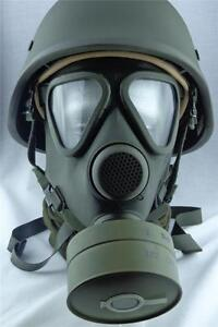 German Military Gas Mask / Respirator M65 by Drager Unissued Army with Filter