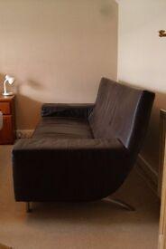 Italian leather designer sofa
