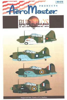 1:48 Buffalos Over South Asia Pt1 F2A AeroMaster Model Decals Sheet NOS 619