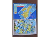 British Isles jigsaw puzzle, 120 pieces