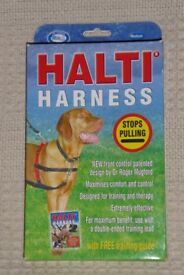 HALTI Dog Harness & Instructions, size Medium,To Stop Pulling with Front and Top Control, Histon