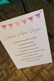 Dance Floor Rules Sign