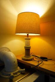 Light, warm table lamp