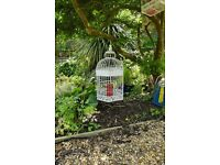 Fabulous unique Retro / Vintage Garden Ornamental Bird Cage Great addition to any garden