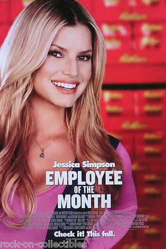 Jessica Simpson 2006 Employee Of The Month Original Movie Poster